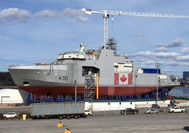 В Канаде строят серию арктических патрульных кораблей для ВМС
