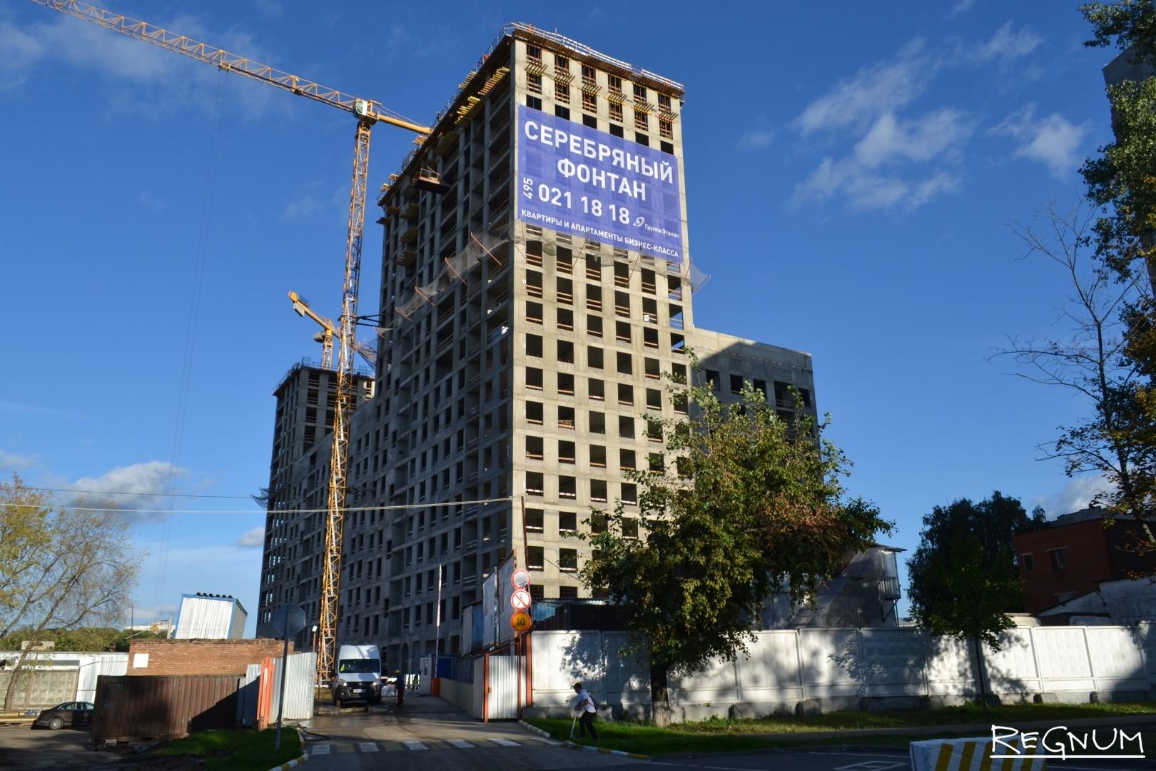 Ведётся активное строение зданий в районе СВАО