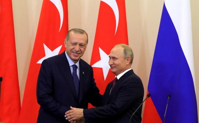 Владимир Путин и Реджеп Тайип Эрдоган [