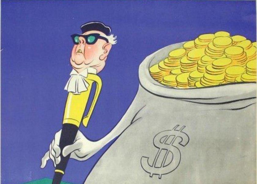 Деньги и бюрократия. Фрагмент плаката