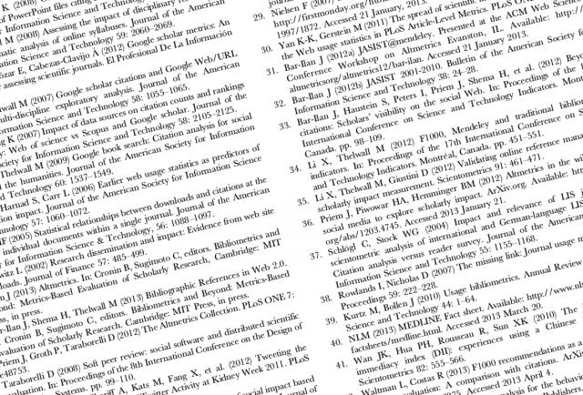 Научная публикация. Список литературы