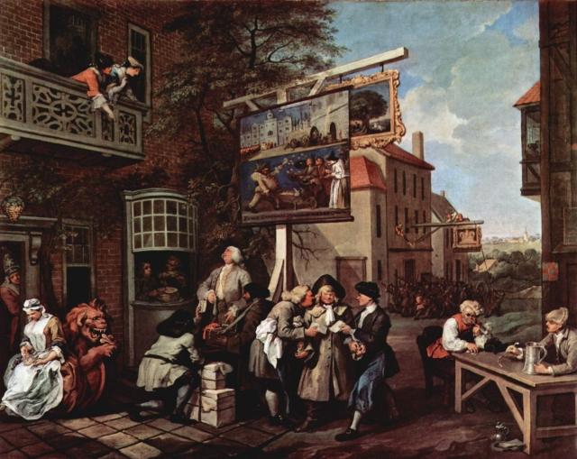 Уильям Хогарт. Выборы. Сбор голосов. 1755