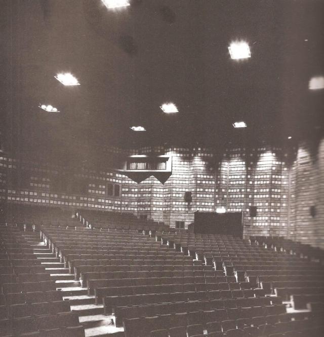 Киберпанк убранства киноконцертного зала дворца молодёжи Каганавы, 1962