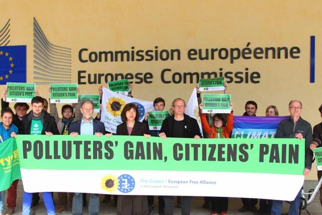 Акция европейских «зелёных»