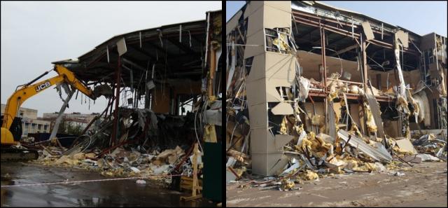 В пригороде Петербурга снесли незаконный торговый комплекс