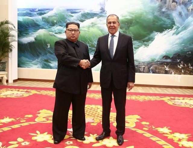 Сергей Лавров и Ким Чен Ын