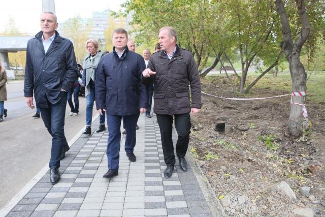 Сквер Победителей в Красноярске преображается