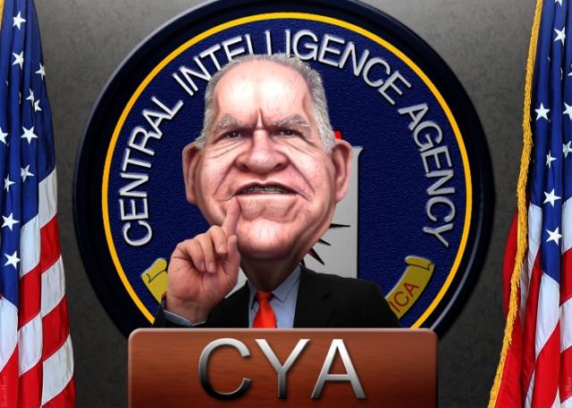 Карикатура на директора ЦРУ Джона Бреннана