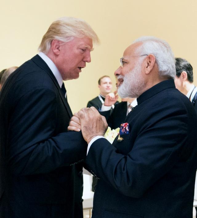 Нарендра Моди и Дональд Трамп