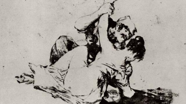 Франсиско де Гойя. Насилие (фрагмент). 1820