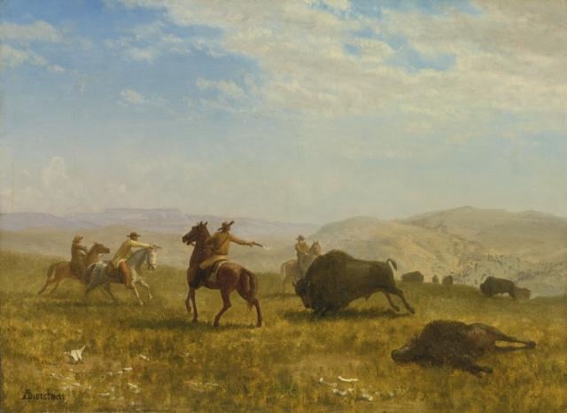 Альберт Бирштадт. Дикий Запад. Охота на бизонов. 1859