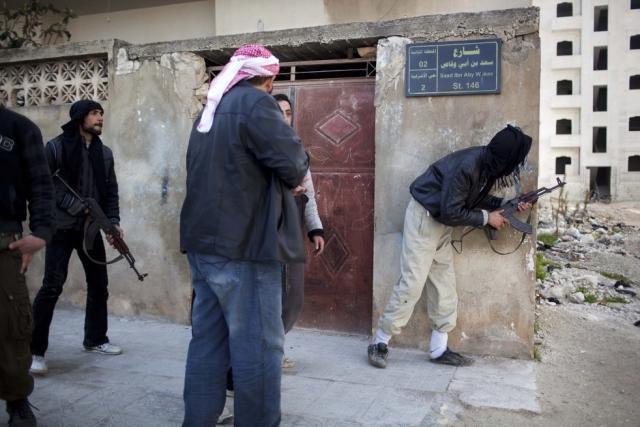 Террористы на улицах Идлиба