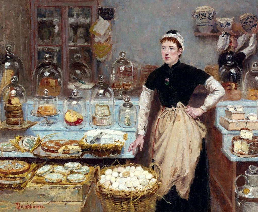 Эдуард Дамборгез. Торговка сыром. До 1931