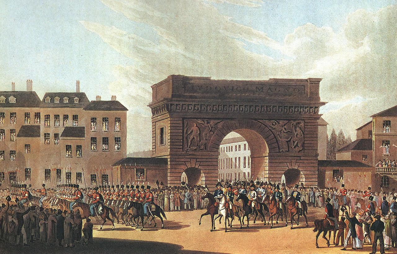 Неизвестный художник. Вступление российских войск в Париж. 31 марта 1814 года. 1815