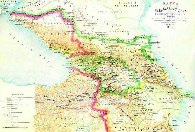 Карта Кавказского края (1801-1813)