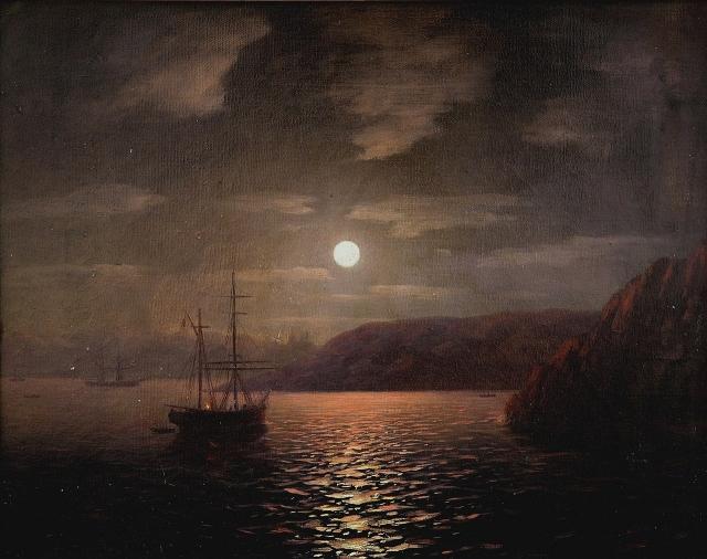 Иван Айвазовский. Лунная ночь на Черном море. 1855
