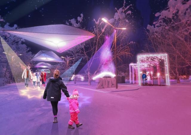 Красноярский парк под Новый год станет «пространством светопритяжения»
