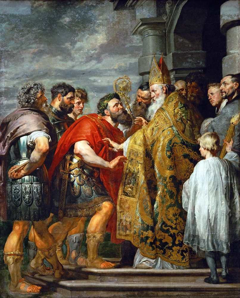 Питер Пауль Рубенс. Святитель Амвросий Медиоланский и император Феодосий.