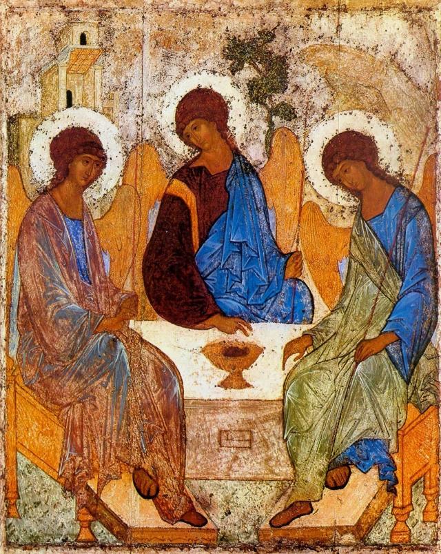 Икона Святой Троицы. Андрей Рублёв, XV век