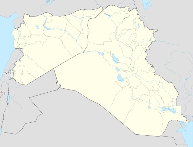 Ирак и Сирия на карте Ближнего Востока
