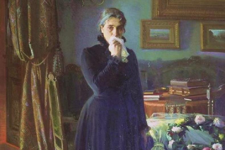 Иван Крамской. Неутешное горе (фрагмент). 1884