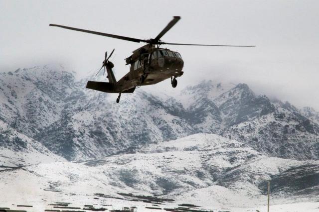 Американский вертолёт в Афганистане