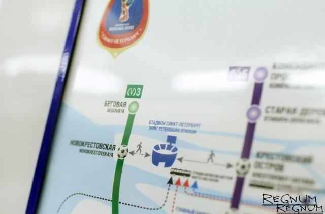 Обновленная схема метро Петербурга