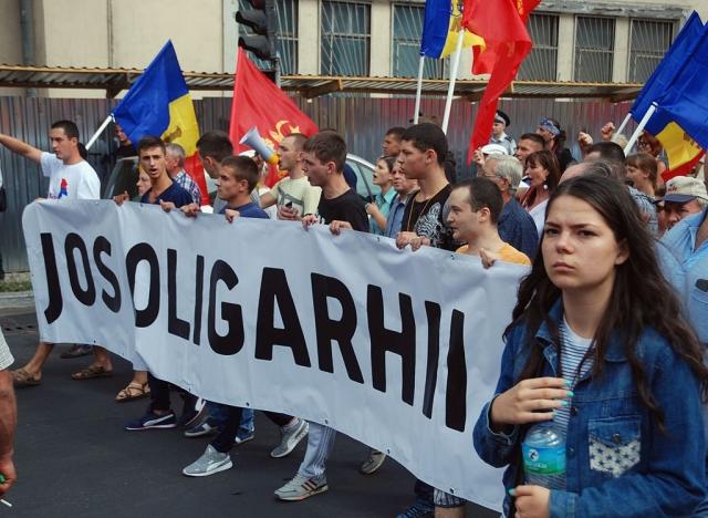 Протестная молодежь в Молдавии