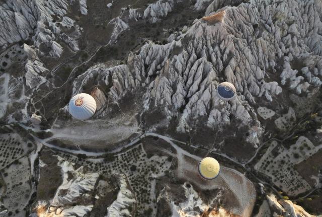Вулканические образования ландшафта Каппадокии