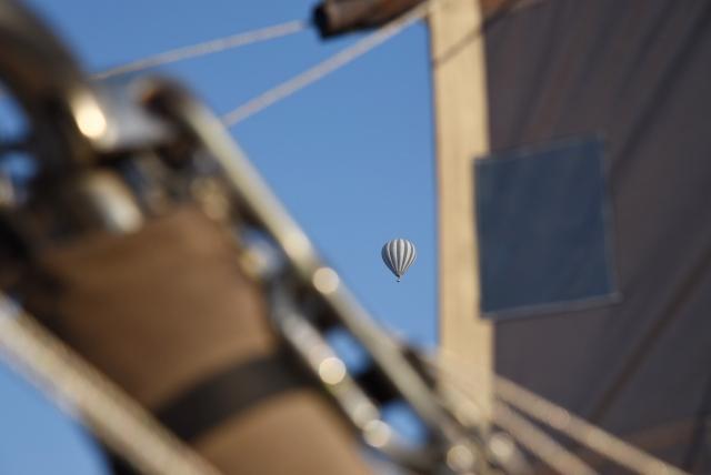 Вид из корзины воздушного шара. Каппадокия. Турция