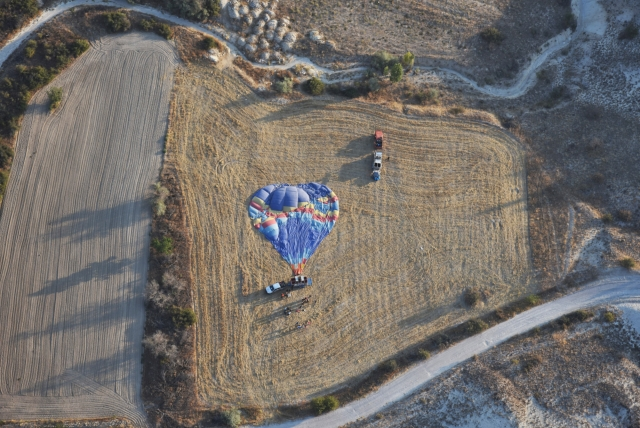 Воздушный шар после часового полёта. Каппадокия. Турция