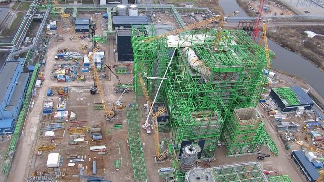 Строительство электростанции «Аувере»