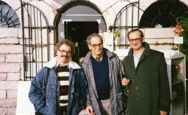 С Е.Г.Эткиндом и  поэтом Жан-Люком Моро