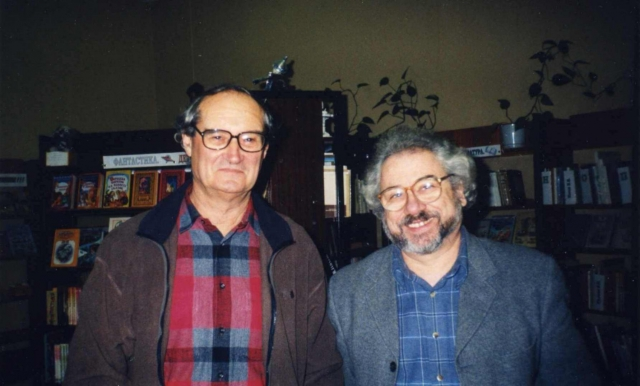 С Жан-Люком в Санкт-Петербурге. 22 декабря 2001