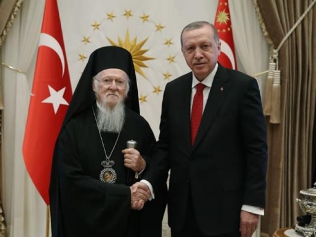 Патриарх Варфоломей и Реджеп Тайип Эрдоган