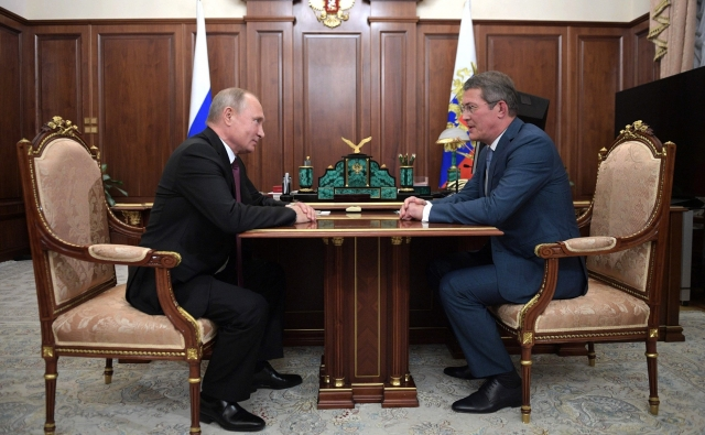 Путин встретился с врио главы Башкирии Хабировым