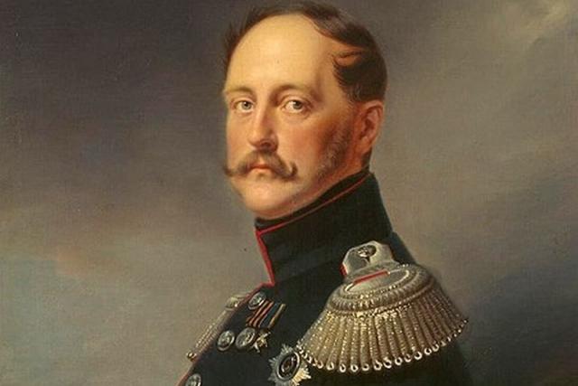 Франц Крюгер. Портрет императора Николая I (фрагмент). 1852