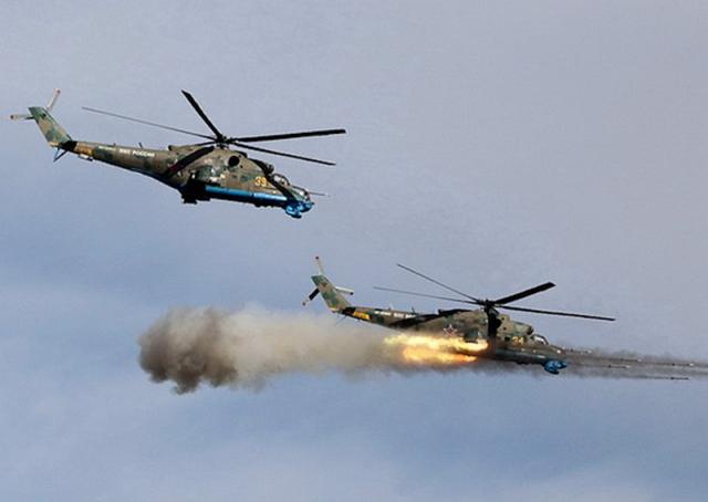 Российские Ми-24 успешно нанесли удар по противнику на учениях в Киргизии