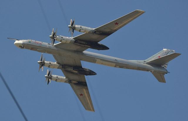 Ту-95 МС ВКС РФ совершил демонстрационный полет на учениях в Киргизии