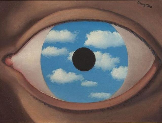 Рене Магритт. Фальшивое зеркало. 1935