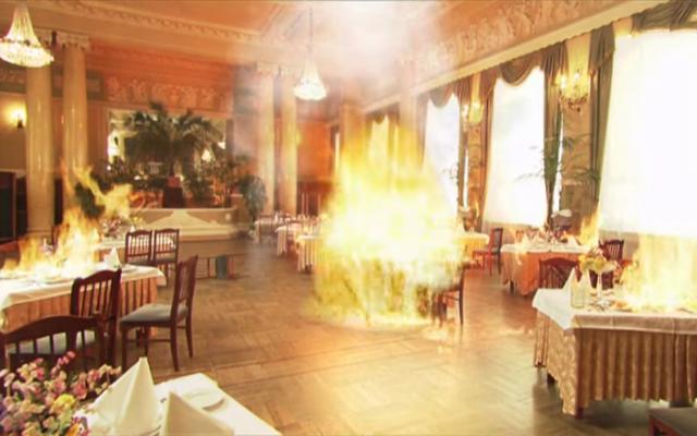 На западе Москвы горит кафе