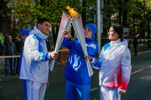 Ставрополь встретил огонь Всемирной зимней универсиады