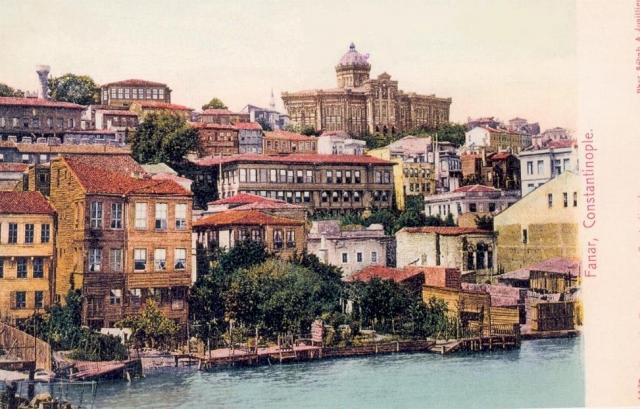 Фанар — район Константинополя, где находится резиденция патриарха. 1900 год