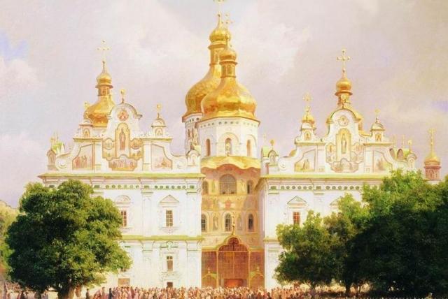 Василий Верещагин. Великая церковь Киево-Печерской лавры (фрагмент). 1905