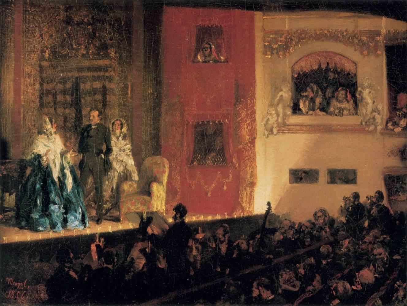 Адольф Фридрих Эрдман фон Менцель. Театр Жимназ. 1856
