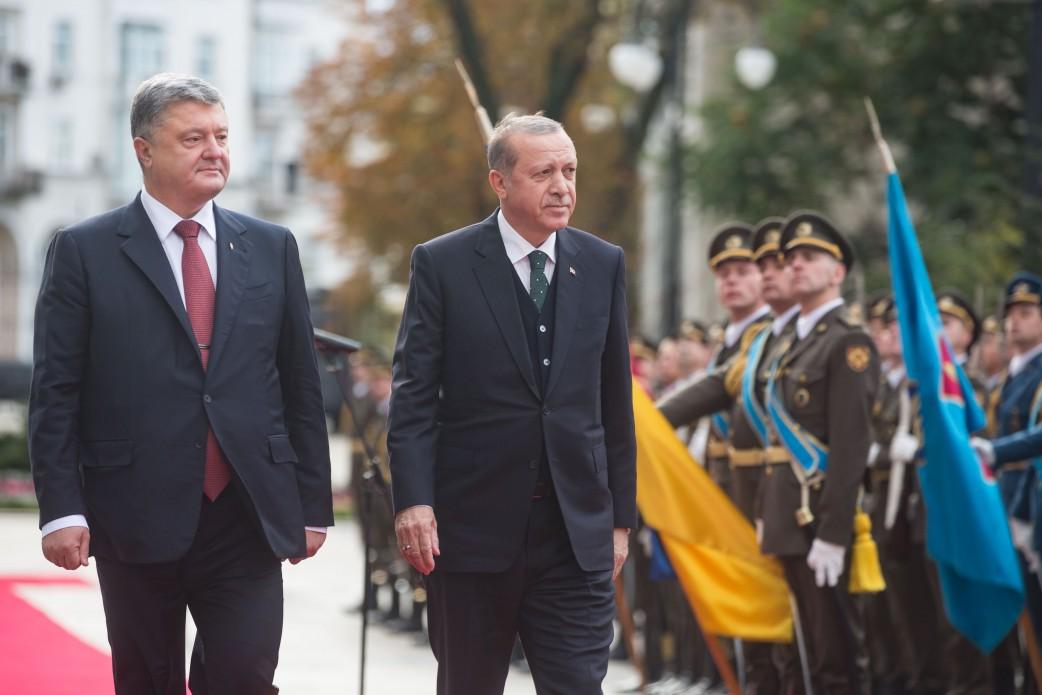Визит президента Турции Рэджепа Эрдогана в Киев. 9 октября 2017