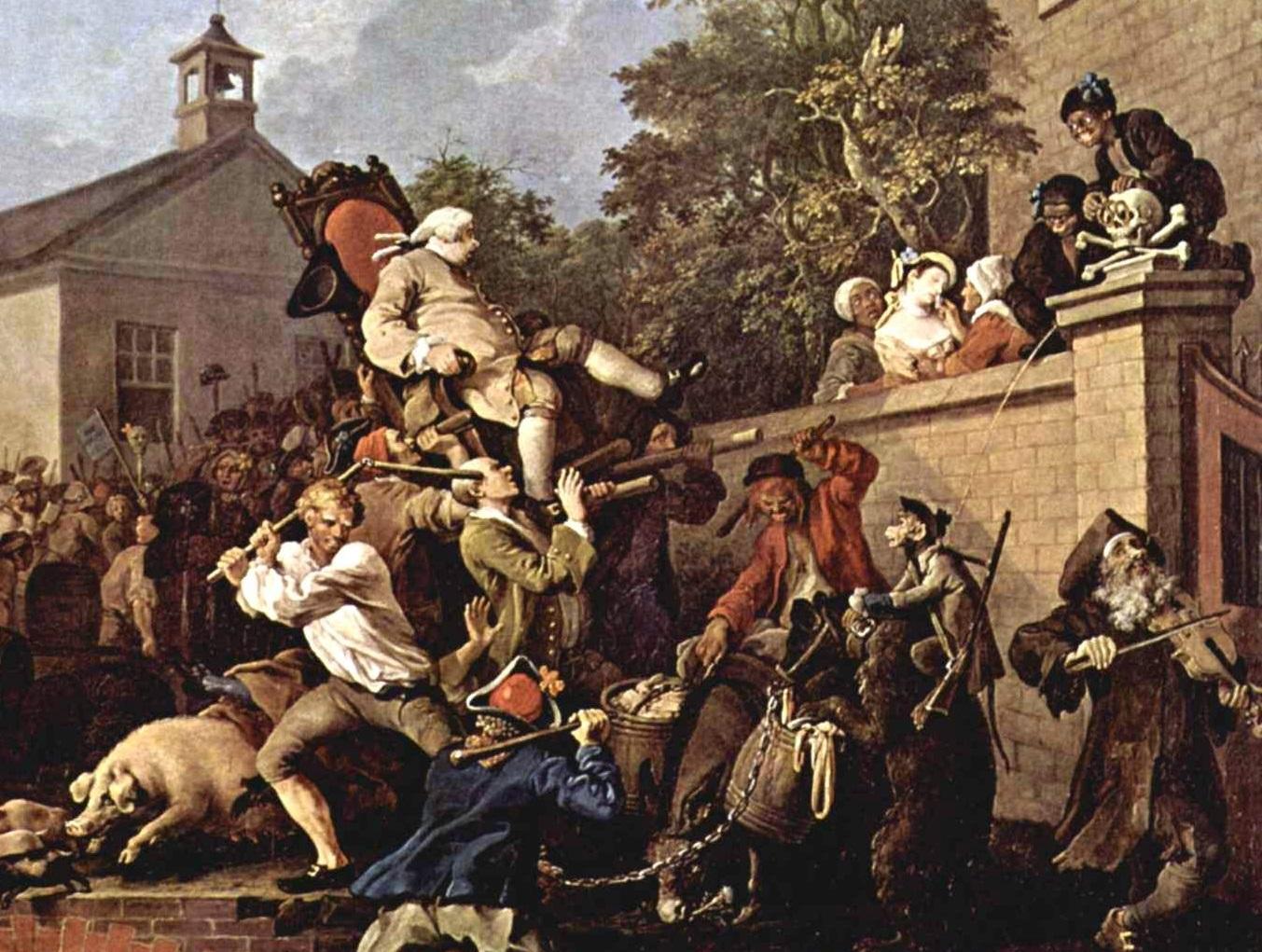 Уильям Хогарт. Выборы. Триумф депутатов. 1775 (фрагмент)