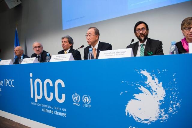 Пан Ги Мун (в центре) на IPCC