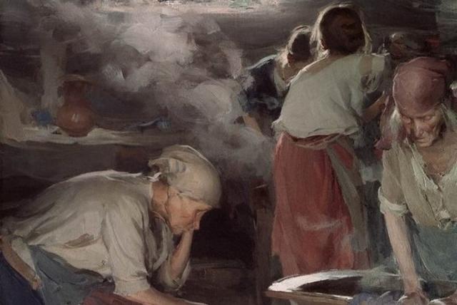 Абрам Архипов. Прачки (фрагмент). Конец 1890-х