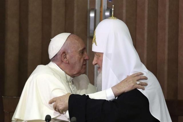 Папа Франциск и патриарх всея Руси Кирилл